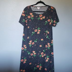 Flowered Lularoe Carly dress